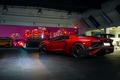 Картинка Lamborghini, Red, Aventador, LP 750-4, Superveloce, Imports, Prestige, Rear, Supercar
