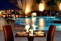 Картинка романтика, вечер, бассейн, ужин
