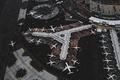 Картинка самолеты, аэропорт, вид сверху