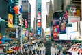 Картинка Manhattan, America, logos, NYC, traffic, cars, colors, New York, vehicles, New York City, Times Square, ...