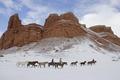 Картинка Ковбои, снег, скалы