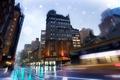 Картинка nyc, new york, Slick Streets, Broadway, Rainy Night, нью-йорк, бродвей, usa