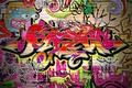 Картинка стена, граффити, кирпичи, краски