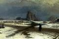Картинка природа, люди, зима