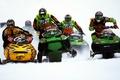Картинка Снег, снегоход, гонки