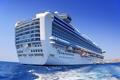 Картинка океан, корабль, круизный лайнер