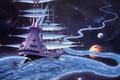 Картинка Rodney matthews, the ether stream, река, путешествие, миры, корабль