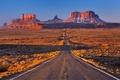 Картинка дорога, пустыня, горы, канон, США