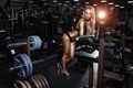 Картинка blonde, pose, gym, light, fitness, gym machines, rest