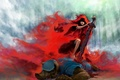 Картинка волк, меч, красная шапочка