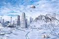 Картинка Конец света, лёд, город