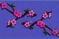 Картинка листья, цветы, ветка, сад, объем