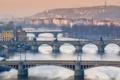 Картинка Прага, Bridges of Prague, Чехия