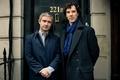 Картинка мужчины, актеры, Шерлок Холмс, дверь, Шерлок, Доктор Ватсон, BBC One, season 3, Sherlock Holmes, 221B ...
