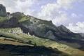 Картинка картина, горы, природа, панорама, Карлос де Хаэс, Горный Хребет Пикус де Эуропа, пейзаж