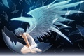 Картинка Ангел, крылья, стекло, осколки