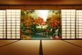 Картинка двери, осень, япония