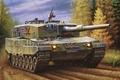Картинка panzer tank. german panzer, paiting, leopard 2 a4, war, art
