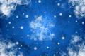 Картинка снежинки, синий, узоры, завитки, новый год