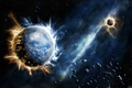 Картинка звезды, взрыв, планеты