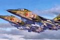 Картинка war, art, painting, jet, avaition, Mitsubishi F-1