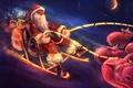 Картинка Новый год, ночь, дед мороз