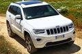 Картинка машина, white, передок, Jeep, Grand Cherokee, Overland