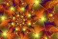 Картинка цвет, узор, линии, фрактал, спираль