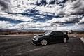 Картинка Subaru, black, небо, облака