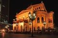Картинка alte Oper, фонари, ночь, Frankfurt, Франкфурт, Герамания, огни