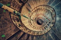 Картинка spiral, staircase, abandoned, stairs