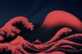 Картинка Океан, Волны, Red, Пена, Красные Волны