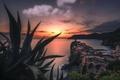 Картинка море, Vernazza, Cinque terre, ночь, Italy, закат