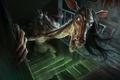 Картинка stairs, humanoid creature, horse, demoniac, creepy