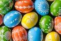 Картинка eggs, holiday, spring, happy, Пасха, яйца, Easter, wood, colorful, весна