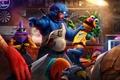 Картинка драка, THE STREETS, Muppet, разборка, art, Grover, полицейский, бар