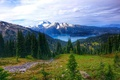 Картинка forest, view, mountain, lake, Garibaldi Lake, peak