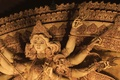 Картинка Калькутта, Индия, храм, статуя богини Дурги